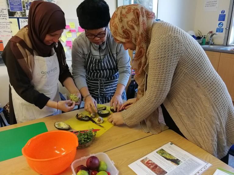 preparing food image